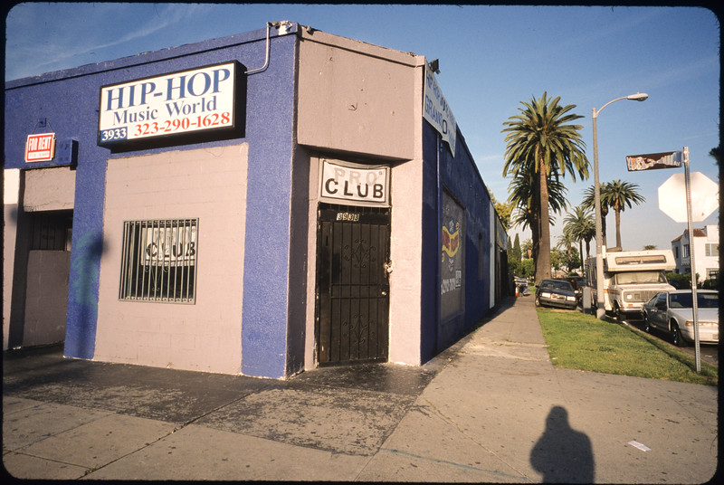 Commercial strip and storefront church along South Western Avenue, Los Angeles, 2005