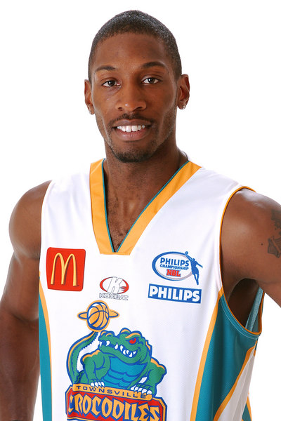 22 AUG 2006 - Larry Abney (Forward 203cm, 100kg) - Away Playing Strip - Townsville McDonald's Crocodiles players/staff photos - PHOTO: CAMERON LAIRD (Ph: 0418 238811)