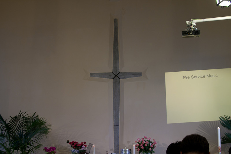 Alter at Easter Sunday service