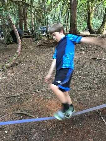 Boys Camping Diablo Lake