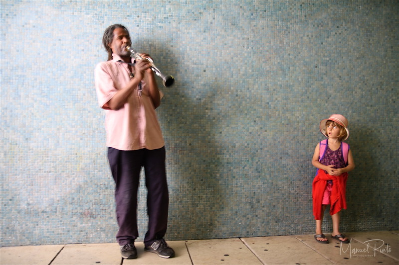 Clarinet  player in the subway Summer 2012