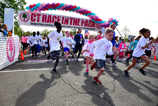 5/11/2019 Mike Orazzi | Staff The kids one mile run during the 16th annual Race in The Park held Saturday in New Britain.