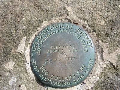 Benchmark on Thunderhead 5,527 ft high
