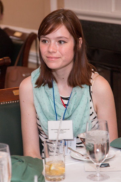 Anastasia Newheart (2015 Scholar) -- 2016 Dr. John Mather Nobel Scholars Program Award  luncheon, held at the Hopkins Club, Johns Hopkins University, Baltimore, MD, July 26, 2016.