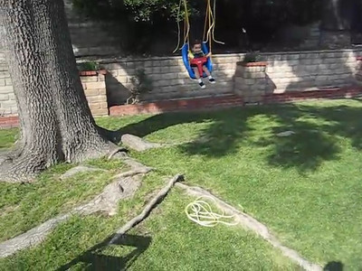 5/04 - Trying out Grandma's new swing