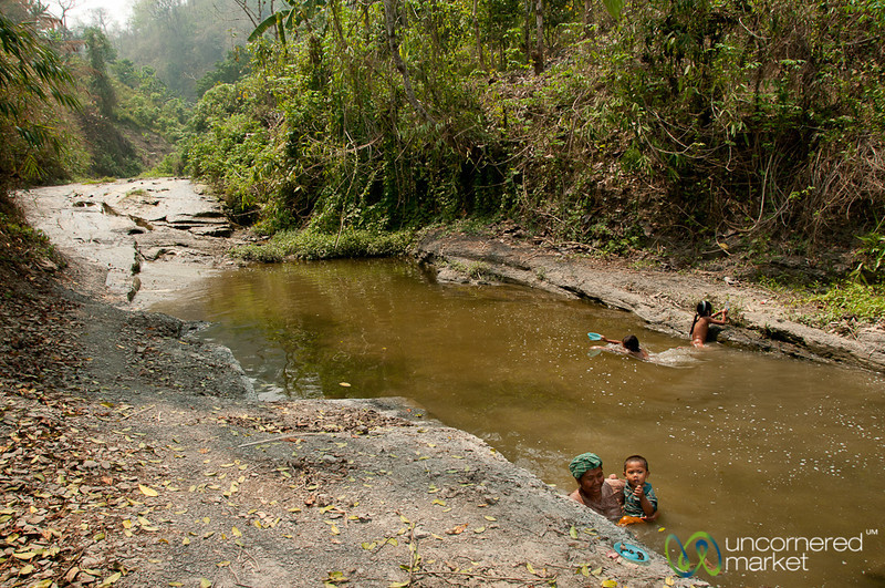 Mother and Son Looking For Snails - Bandarban, Bangladesh