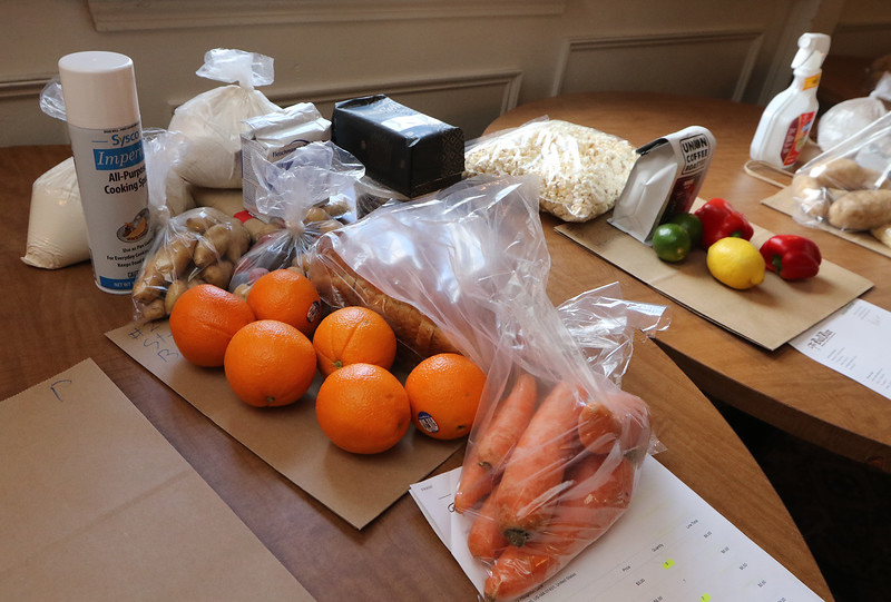 The Bull Run restaurant in Shirley has adapted to the Covid-19 pandemic by offering takeout, including ingredients. Flour for baking is popular.  (SUN/Julia Malakie)