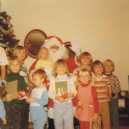 Cousins & Friends w Santa, '77.jpg