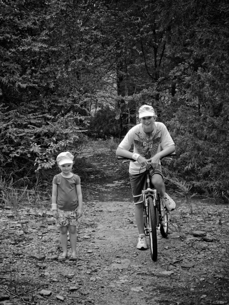 Josh, Chloe and Tim rode their bikes from our house all the way to the lake front - July 17th, 2011