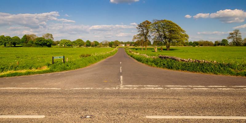 Country lane on Somerset's Mendip Hills
