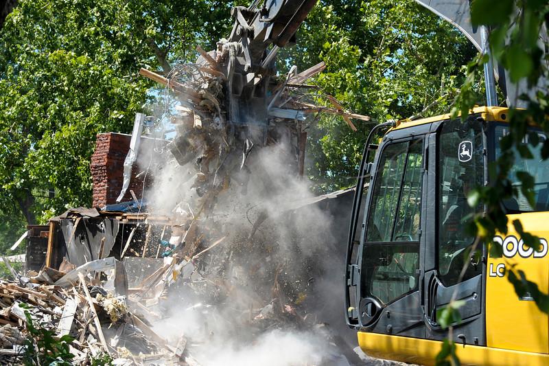 Loading up the debris.
