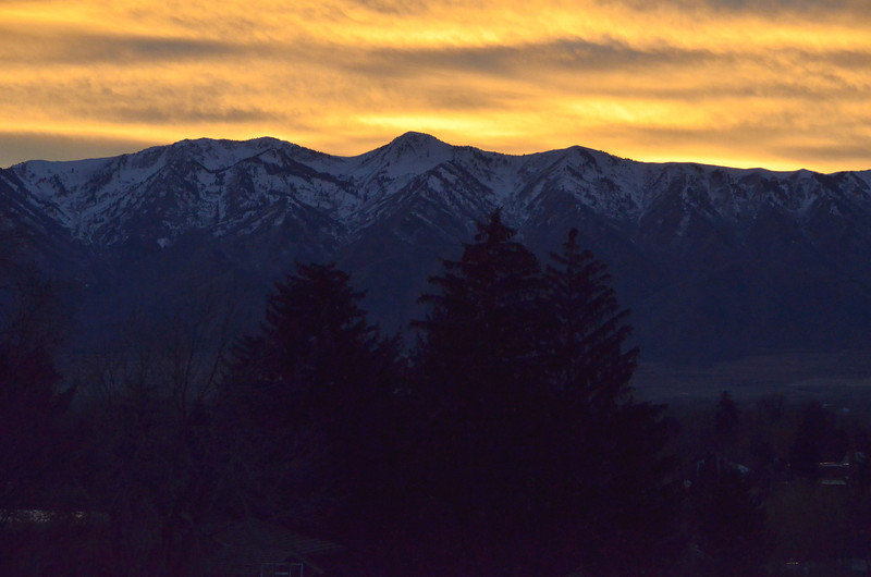 Wellsville mountains from Logan Utah Thanksgiving evening 2012