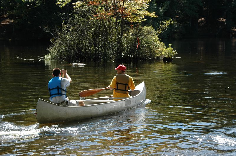 Boy Scouts paddle past control number 1   (Sep 11, 2004, 11:35am)