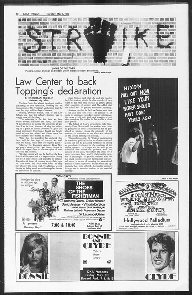 Daily Trojan, Vol. 61, No. 120, May 07, 1970