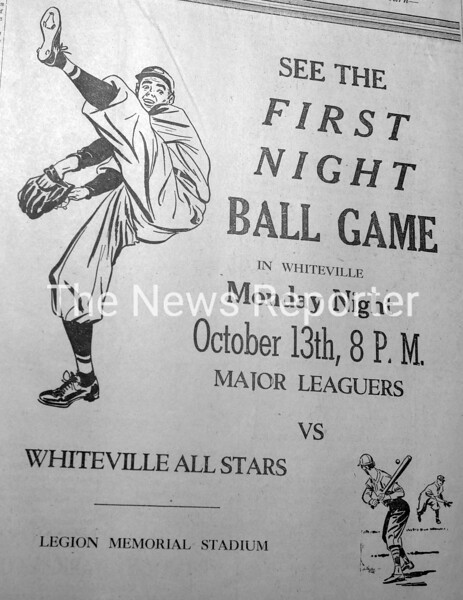 First night baseball game in Whiteville 1947.JPG