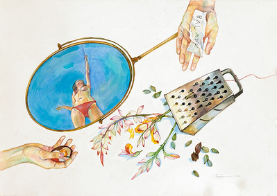 """Balance"" (watercolor) by Olga Berntal"