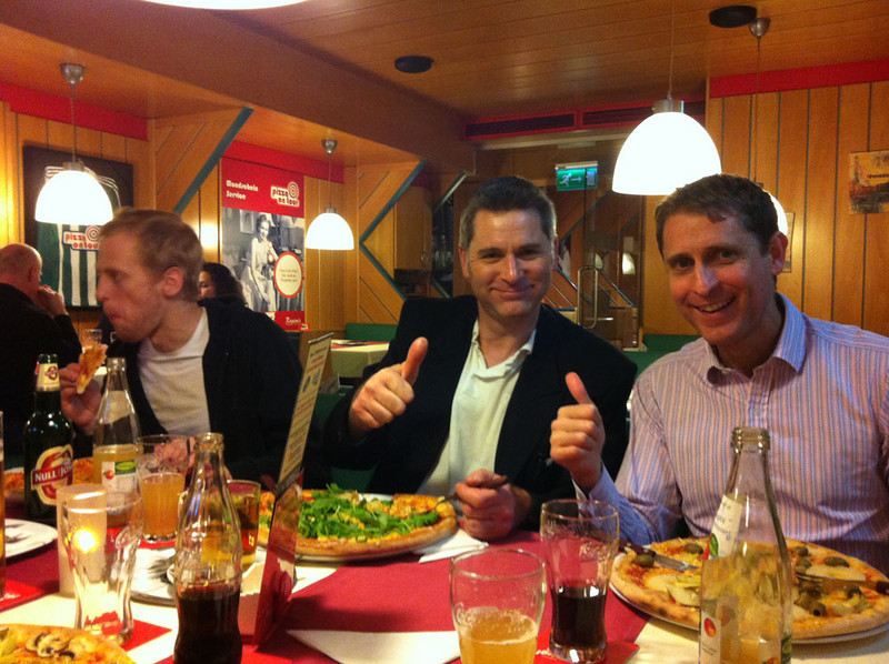 Finally, the most important part - retiring with friends and colleagues to a nearby restaurant for vegan pizzas :)