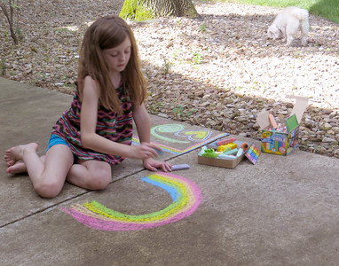 Zaida's Chalk Art