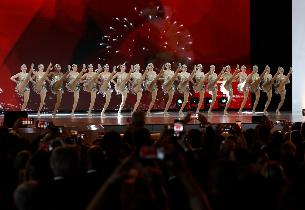 . The Rockettes perform before President Donald Trump\'s arrival at the Liberty Ball, Friday, Jan. 20, 2017, in Washington. (AP Photo/Patrick Semansky)