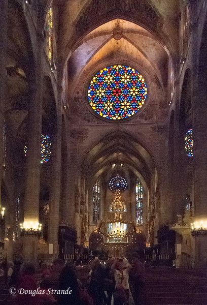 Rose window in the Cathedral of Palma