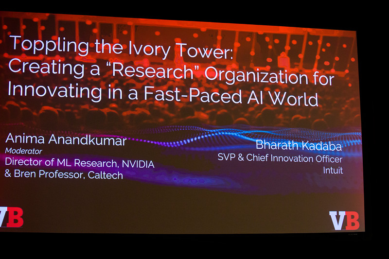 """Bharath Kadaba, SVP & Chief Innovation Officer, Intuit Toppling the Ivory Tower: Creating a """"Research"""" Organization for Innovating in a Fast-paced AI WorldAnima Anandkumar, Director of ML Research, NVIDIA & Bren Professor, Caltech"""