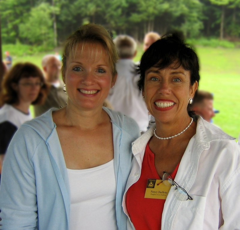 Shirly (daughter of Bernadette) and Nancy (daughter of Leo, and my sister).