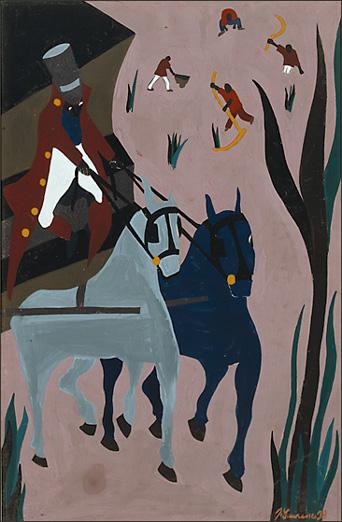 """Jacob Lawrence, """"The Life of Toussaint L'Ouverture No. 8."""" (1938)"""