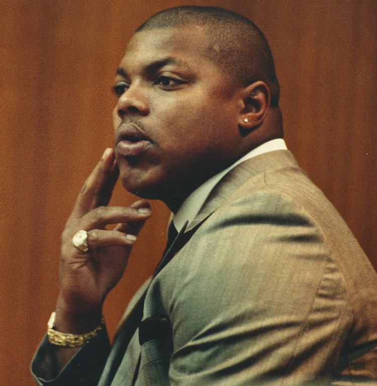 . Former Detroit Lions player Reggie Rogers in Oakland County Circuit Court in Dec. 1989. The Oakland Press/file photo