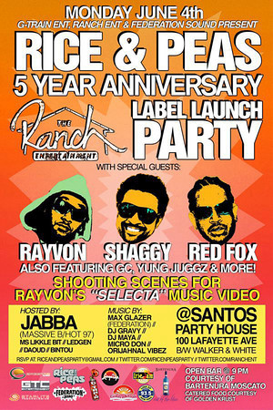 Rice & Peas 5th Year Anniversary Party (6.4.12)