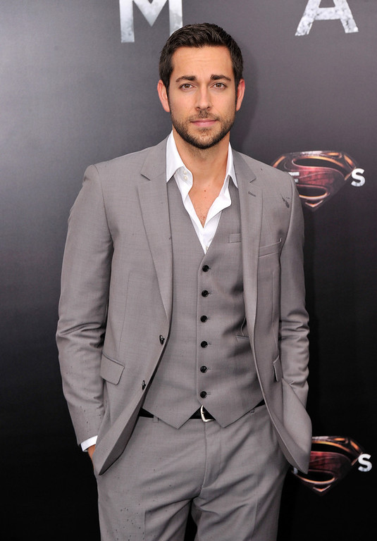 ". Actor Zach Levi attends the ""Man Of Steel\"" world premiere at Alice Tully Hall at Lincoln Center on June 10, 2013 in New York City.  (Photo by Stephen Lovekin/Getty Images)"