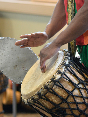 West African drummer performs at Avon Library