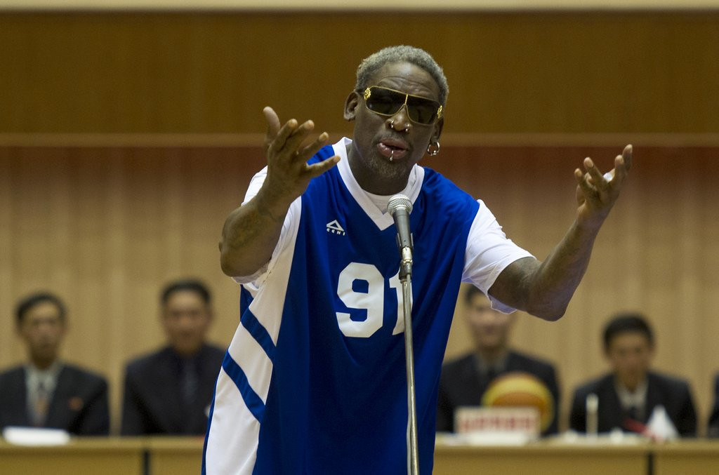 ". <p>6. (tie) DENNIS RODMAN <p>When asked about his basketball team�s execution, Kim Jong Un said he was in favor of it. (10) <p><b><a href=\'http://www.latimes.com/world/worldnow/la-fg-wn-dennis-rodman-happy-birthday-north-korea-20140108,0,4827481.story#axzz2pqDlWPox\' target=""_blank\""> HUH?</a></b> <p>   (AP Photo/Kim Kwang Hyon)"