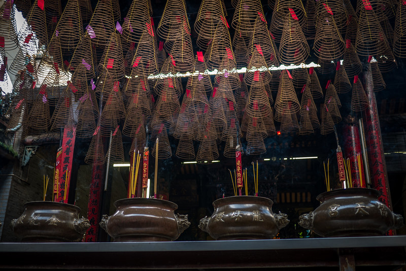 Hanging incense at a Chinese Temple.