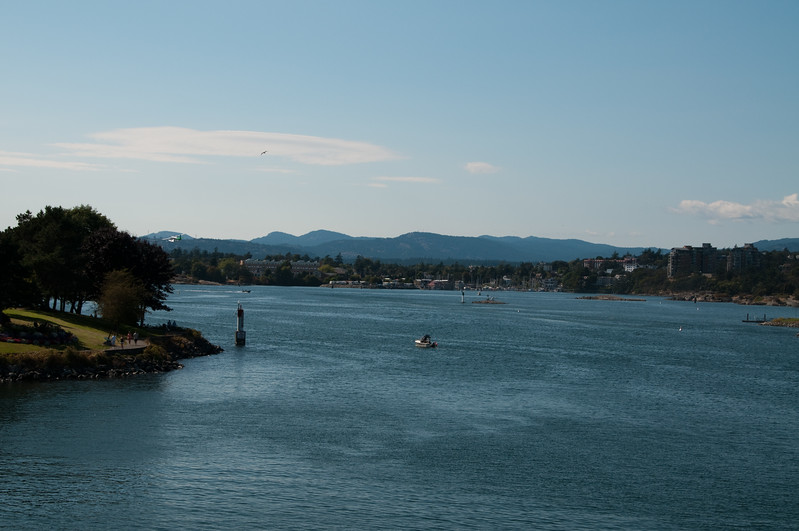 On a ferry leaving Victoria.