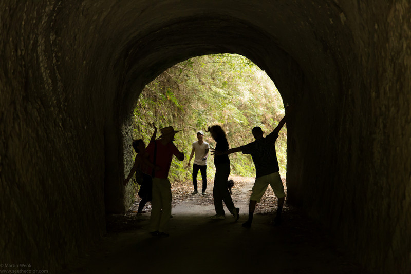 Next scene: in the tunnel, celebrating the sucessful finding of the exit!