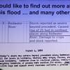"""<i><b>HISTORIC FLOODS IN THE BLACK HILLS</i></b> <b>Dan Driscoll, USGS - February 5, 2013</b>  Speaker Dan Driscoll also tried to recruit a few volunteers for gathering information about Black Hills floods.        Return to <a href=""""http://www.spearfishhistory.org""""><b><i>Spearfish Area Historical Society</i></b></a> ...or continue to the next gallery page."""