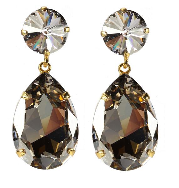 Perfect Drop Earrings / Silver Shade
