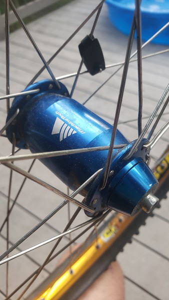 Blue machinetech hubs w single speed adapter