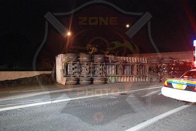 Syosset F.D. MVA w/ Overturned Tractor Trailer Westbound L.I.E. and Rt.135 8/5/09