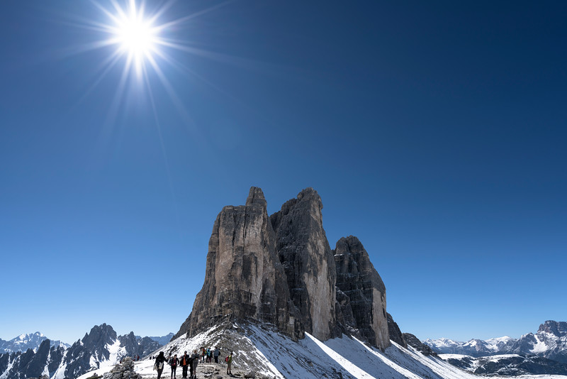 Tre Cime di Lavaredo (Mittle tower is 2.999 m)