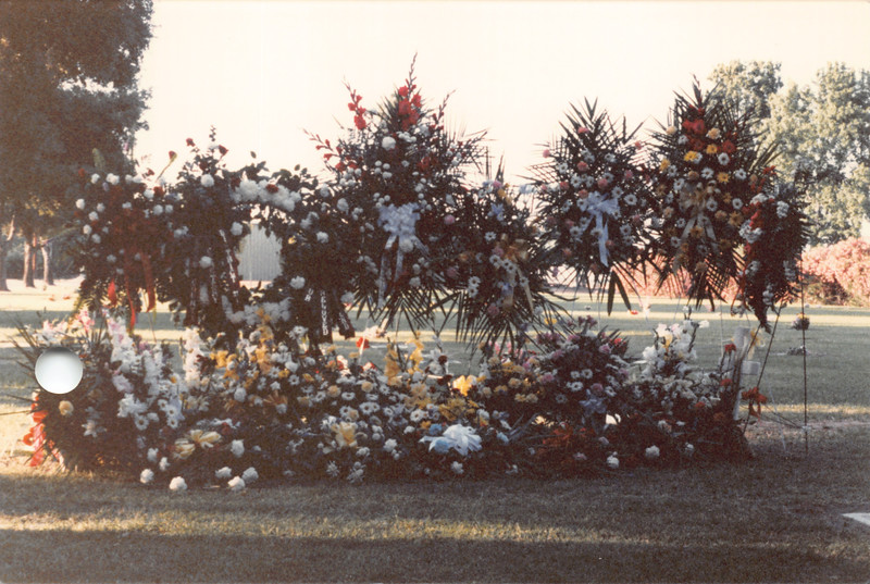 Ruben's funeral & flowers, May 27 1987