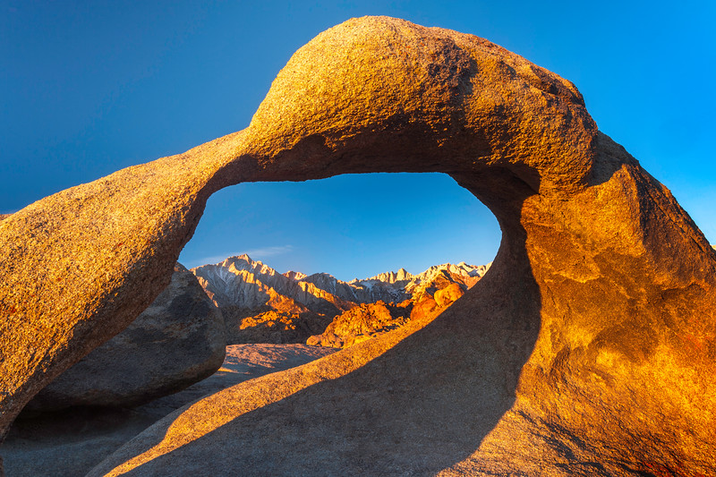 Mobius Arch and Mt. Whitney