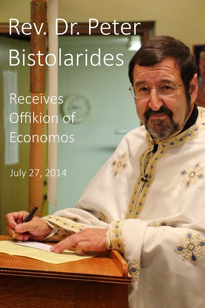 Fr. Peter Bistolarides awarded Offikion of Economos