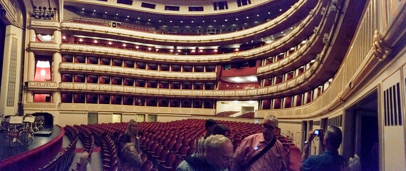at the vienna opera - a beautiful space.