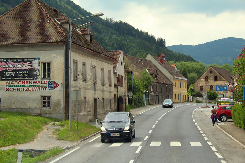 A small town on the road out of Vienna in southeast Austria, May 27, 2011. Photo was taken through the windshield of the bus while moving.