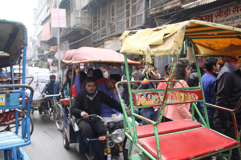 traffic in old Delhi