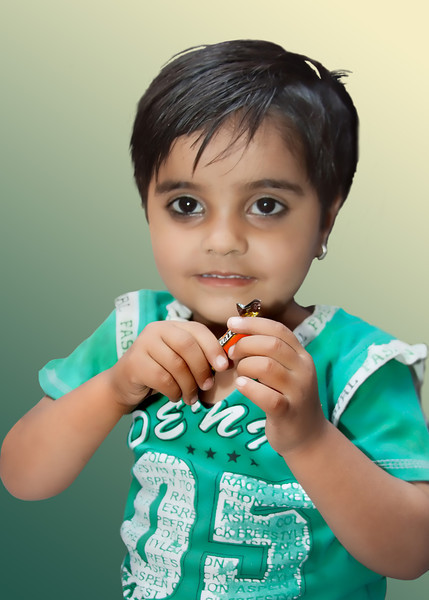 Young Child with Candy