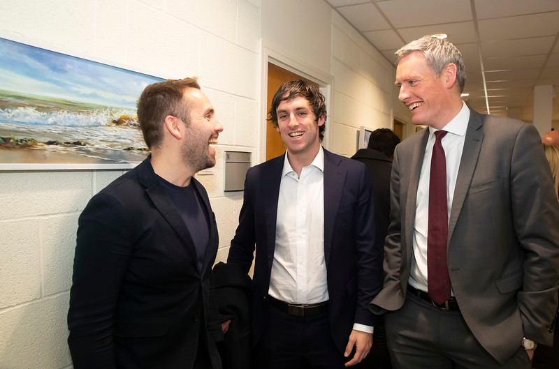 15/11/2019. FREE TO USE IMAGE. Pictured at the The official opening of the ArcLabs Research & Innovation Centre WIT extension, at Carriganore, Co Waterford. Pictured are Rory McCall Rikon, Conor McEneaney and Michéal Mulvey of Dlapiper. Picture: Patrick Browne