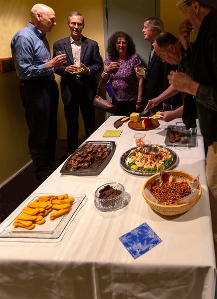 Intermission food and conversation