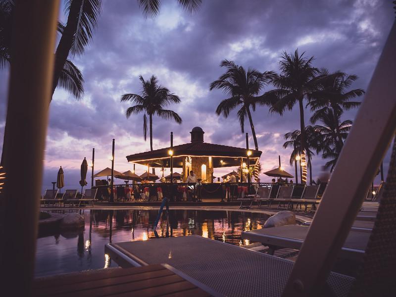 Resort pool and bar